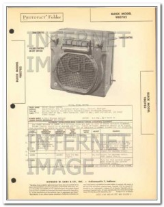 buick model 980782 6 tube am car radio receiver sams photofact manual