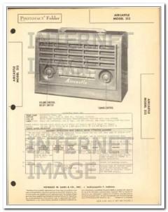 aircastle model 213 5 tube am radio receiver sams photofact manual