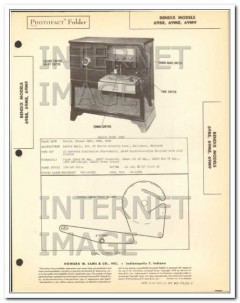 bendix models 69b8 69m8 69m9 am fm radio phono sams photofact manual