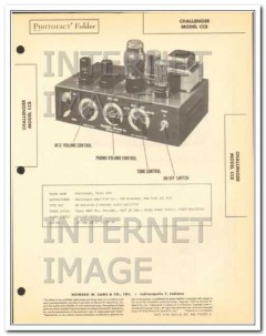 challenger model cc8 2 channel audio amplifier sams photofact manual