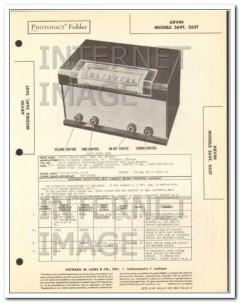 arvin models 264t 265t 6 tube am radio receiver sams photofact manual