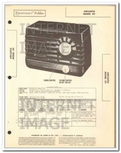aircastle model 211 4 tube am radio receiver sams photofact manual
