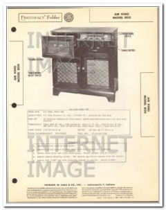air king model 800 8 tube am fm radio phonograph sams photofact manual