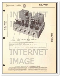 altec lansing model a-323b 2 ch audio amplifier sams photofact manual