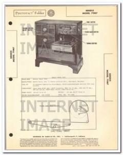 bendix model 79m7 am fm radio receiver phono sams photofact manual