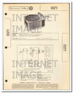 aircastle model 15 phonograph record player sams photofact manual