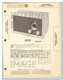airline models 94ha1527c 94ha1528c am radio sams photofact manual