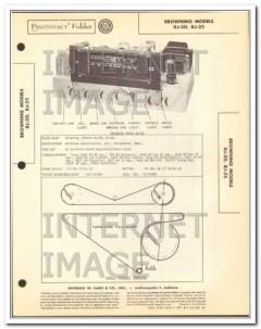 browning laboratories models rj-20 2 am fm radio sams photofact manual