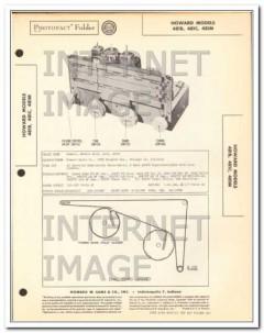 howard models 481b 481c 481m am fm sw radio sams photofact manual