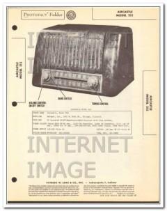 aircastle model 212 8 tube am fm radio receiver sams photofact manual