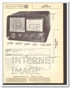 philco model 48-700 tv television receiver sams photofact manual