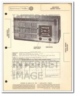aircastle model 132564 4 tube am radio receiver sams photofact manual
