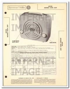arvin model 350p 351p 5 tube portable am radio sams photofact manual