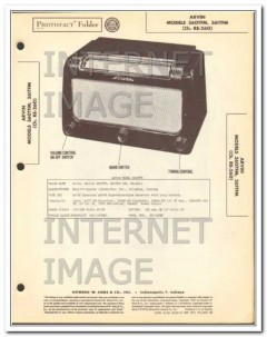 arvin models 360tfm 361tfm am fm radio receiver sams photofact manual