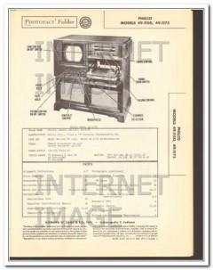 philco models 49-1150 -1175 tv am fm radio phono sams photofact manual