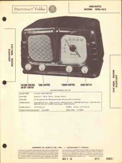 aircastle model weu-262 am fm radio receiver sams photofact manual