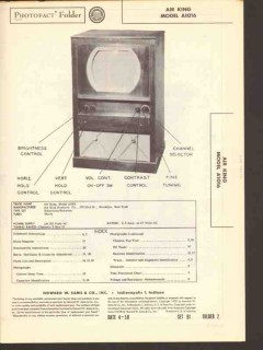 air king model a1016 30 tube television receiver sams photofact manual
