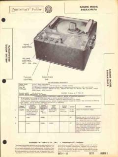 airline model 84gaa3967a recorder phono radio sams photofact manual