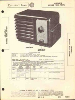 aircastle model 90121 9012w 4 tube am radio sams photofact manual
