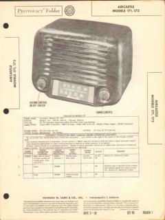 aircastle models 171 172 am radio receiver sams photofact manual