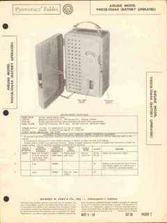 airline model 94gcb-1064a am radio receiver sams photofact manual