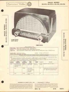 philco models 50-522 522-i 524 526 am radio sams photofact manual