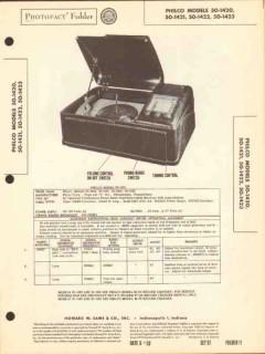 philco model 50-1420 21 22 23 am radio phono sams photofact manual