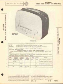 aircastle model 102b 5 tube am radio receiver sams photofact manual