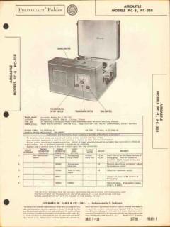 aircastle model pc-8 pc-358 am radio phonograph sams photofact manual