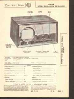 airline model 84ha-3002a 84ha-3002b tv receiver sams photofact manual