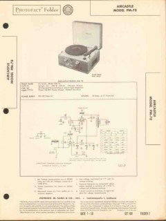 aircastle model pm-78 phonograph record player sams photofact manual