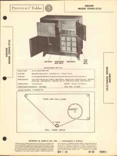 airline model 05wg-2752 7 tube am fm radio phono sams photofact manual