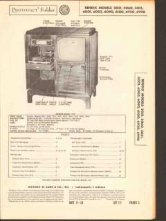 bendix model 2051 060 3051 6001 3 90 100 920 990 sams photofact manual
