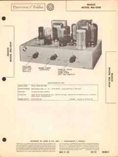 masco model ma-10hf 6 tube audio amplifier sams photofact manual