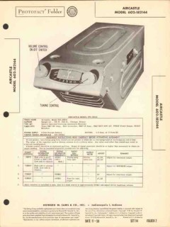 aircastle model 602-182144 am car radio receiver sams photofact manual