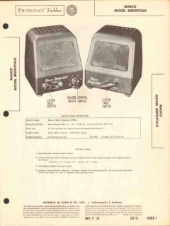 masco model midgetalk 2 station intercom system sams photofact manual