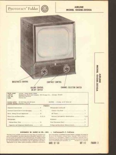 airline model 05gse-3020a tv television receiver sams photofact manual