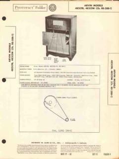 arvin model 482cfb 482cfm am fm radio phono sams photofact manual