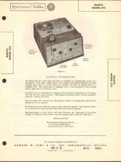masco model 375 magnetic tape recorder sams photofact manual