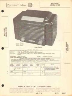 aircastle model 5015.1 5 tube am radio receiver sams photofact manual