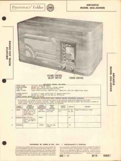 aircastle model 606-400wb am radio receiver sams photofact manual