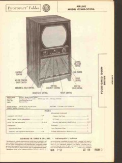 airline model 05wg-3030a tv television receiver sams photofact manual