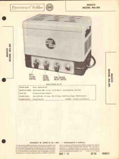 masco model ma-8n 4 tube audio amplifier sams photofact manual