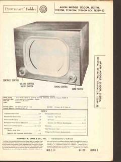 arvin model 212xxm series tv television receiver sams photofact manual