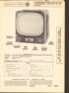 ambassador model am17 am20 pl17 pl20 series tv sams photofact manual