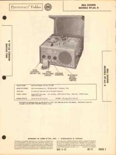 bell sound model rt-65 rt-65b tape recorder sams photofact manual