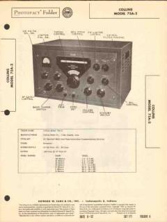 collins model 75a-2 multi-band radio receiver sams photofact manual