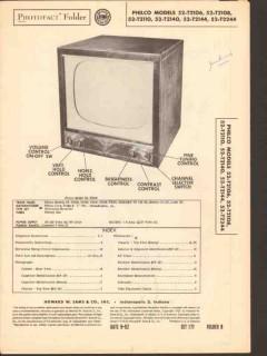 philco model 52-t2106 08 10 40 44 tv receiver sams photofact manual