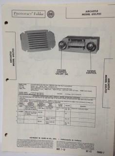 aircastle model 610.f151 am car radio receiver sams photofact manual