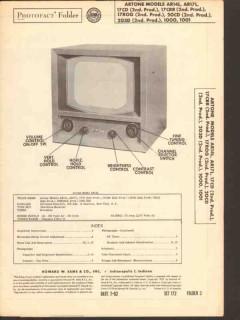 artone model ar1x 17c 20cd 203d 1000 1001 series sams photofact manual